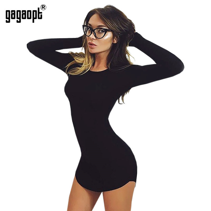 Gagaopt 2017 4 Colors Autumn Dress Sexy