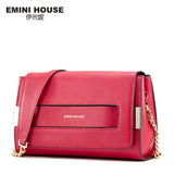 EMINI HOUSE Split Leather Flap Bag New Design Women Messenger Bags