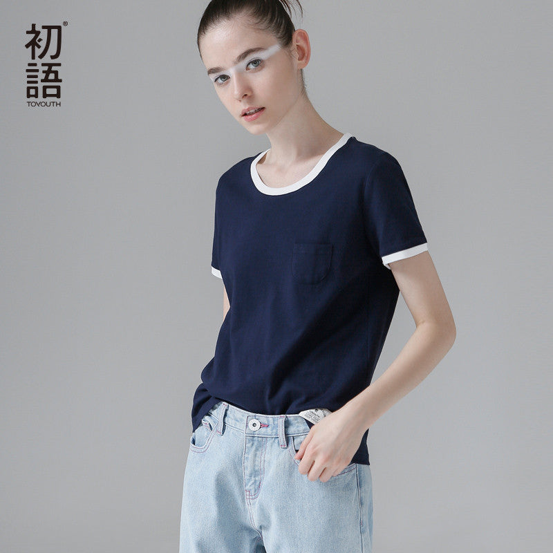 Summer T-shirt Casual O-Neck Loose Cotton