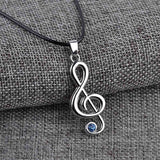Anime Jewelry Hatsune Miku Character Treble G Clef Music Note Pendant