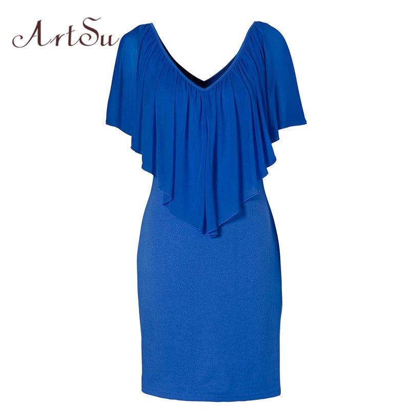 Summer Sexy Club Party Dresses Women Clothing 2017 New Style Blue - saÿtii