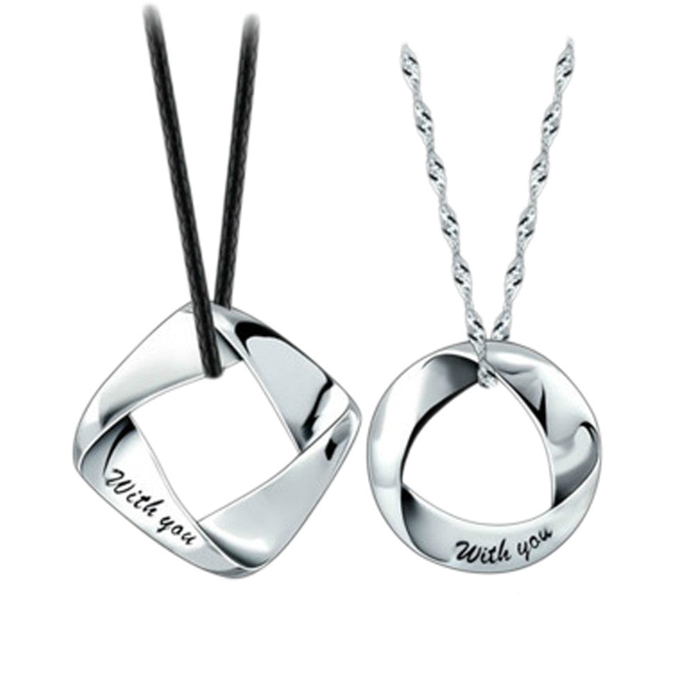 1 pc Men/Woman Accessories Couple Necklace Lovers Fashion - saÿtii