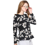 2017 Fashion Floral Printed Shirts Women Long Sleeve Female Pullover Top