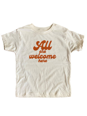 All are welcome here toddler/youth T-shirt
