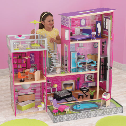 KidKraft Uptown Dollhouse with Swimming Pool - Best Dollhouses for 2020 - Salsa and Gigi Australia