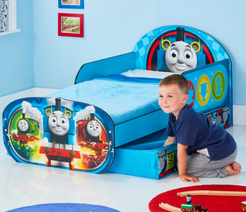 Thomas the Tank Engine and Friends Kids Toddler Bed with Storage by HelloHome - Salsa and Gigi Australia