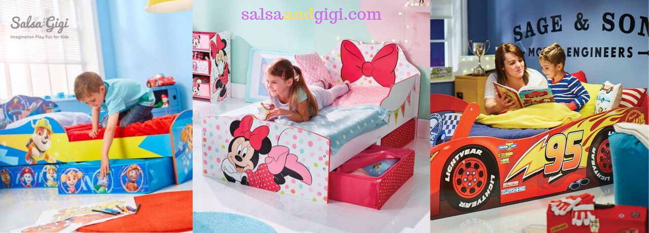 Toddler beds from Salsa and Gigi Australia - Minnie Mouse, Paw Patrol, Disney Cars