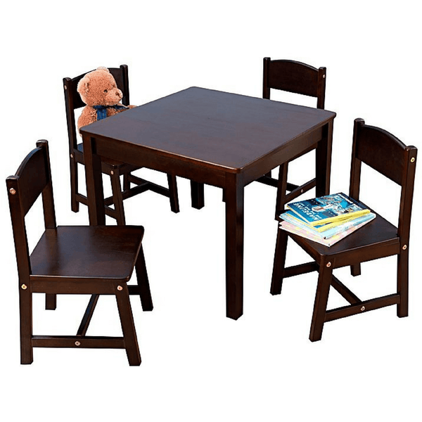 Farmhouse Table and 4 Chair Set - Espresso - Salsa and Gigi