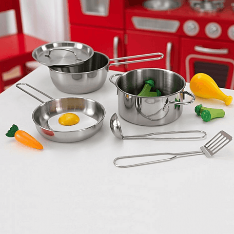 Deluxe Cookware Set with Food - Salsa and Gigi