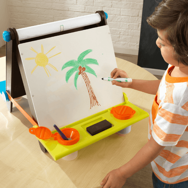 KidKraft Tabletop Easel Espress and Brights - Salsa and Gigi Online Store