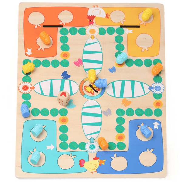 2 in 1 Caterpillar and Chess Game - Salsa and Gigi