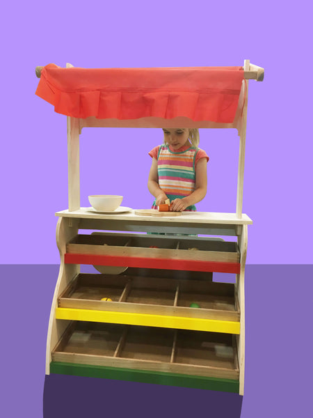 2 in 1 Wooden Childsize Shop & Theatre - Salsa and Gigi
