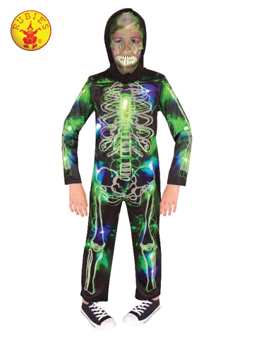 SPOOKY GLOW IN THE DARK SKELETON COSTUME, CHILD Salsa and Gigi Australia 300390