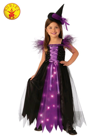 FANCY WITCH LIGHT UP COSTUME, CHILD Salsa and Gigi Australia 700903