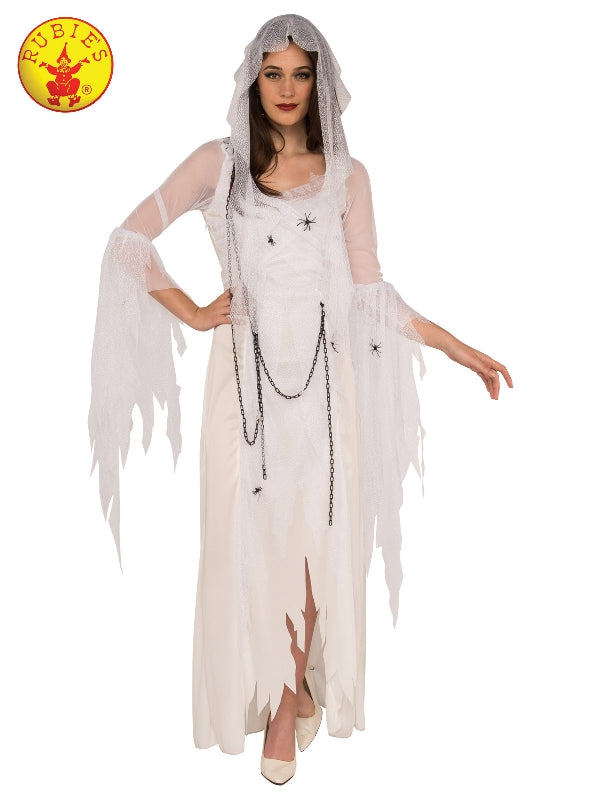 GHOSTLY SPIRIT WOMENS COSTUME, ADULT Salsa and Gigi Australia 820608