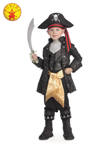 CAPTAIN BLACK DELUXE COSTUME, CHILD Salsa and Gigi Australia 882896
