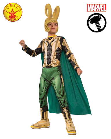 AVENGERS Loki Deluxe Muscle Chest Child Costume - Salsa and Gigi