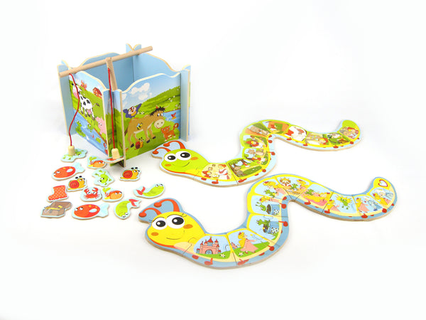 Caterpillar and Fishing Game - Salsa and Gigi