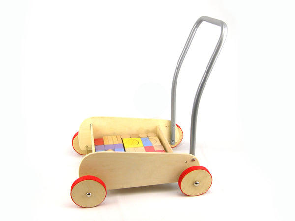 Wooden Baby Walker with Blocks - Salsa and Gigi Online Store
