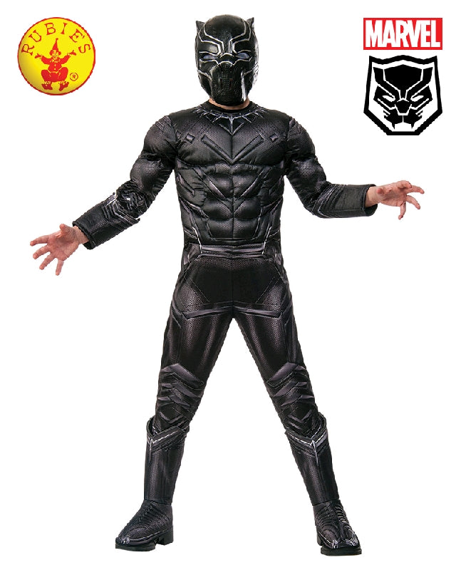 AVENGERS Black Panther Premium Boys Costume - Sizes S, M - Salsa and Gigi