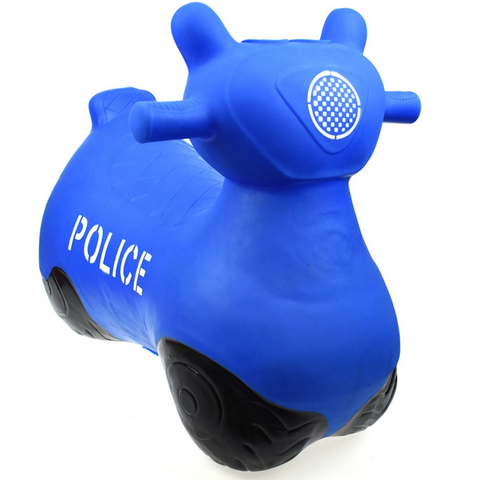 Bouncy Ride On Inflatable Toy - Blue Police - Salsa and Gigi