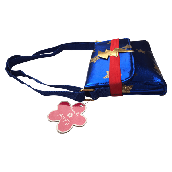 Superhero Girls Crossbody Handbag - Blue - by Pink Poppy - Salsa and Gigi