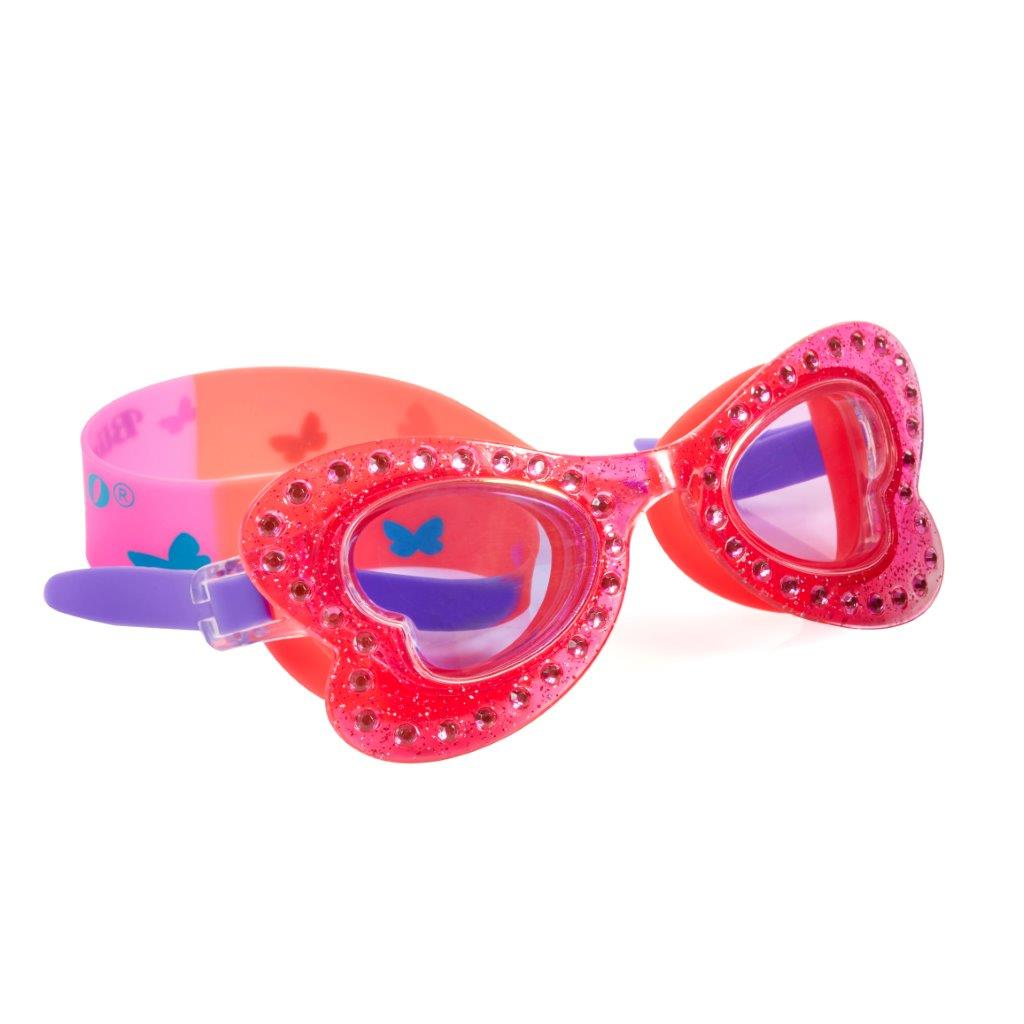 Butterfly Skipper Coral Girls Swim Goggles - Salsa and Gigi