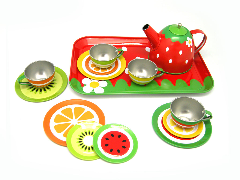 Fruit Tin Tea Set - Salsa and Gigi