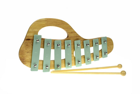 Toddler Wooden Xylophone Classic Calm Spring Green - Salsa and Gigi Australia