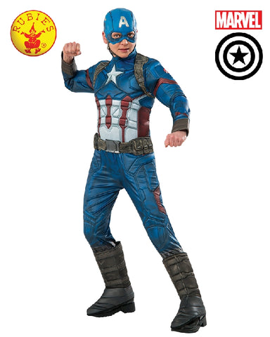 AVENGERS Captain America Premium Boys Costume - Salsa and Gigi