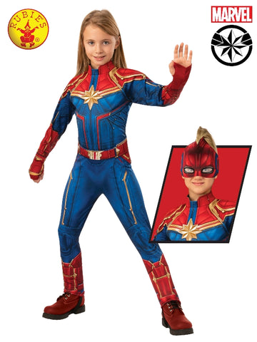 Captain Marvel Deluxe Hero Child Suit Costume - Salsa and Gigi Australia