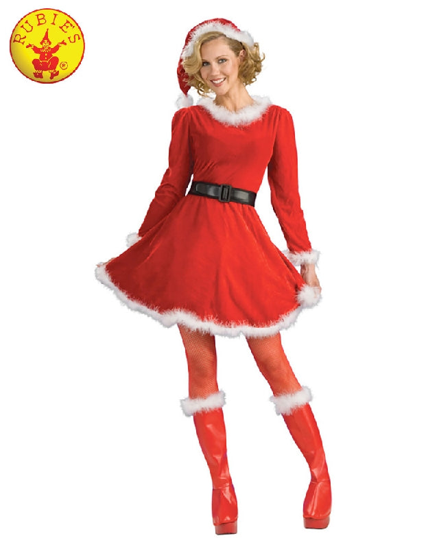 Christmas Mrs Claus Deluxe Ladies Costume - Adult Sizes S, M - Salsa and Gigi