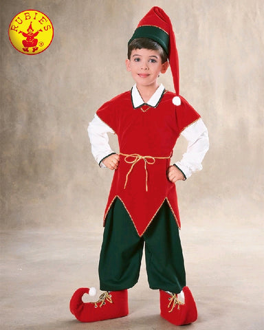 Christmas Velvet Elf Child Costume - Sizes S, M, L - Salsa and Gigi