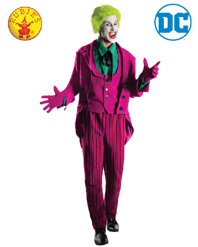 DC Comics The Joker 1966 Collector's Edition Men's Costume - Adult Sizes STD, XL - Salsa and Gigi