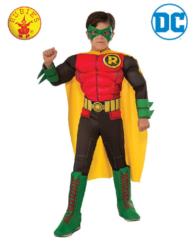 DC Superhero Robin Deluxe Boys Costume - Size S, M, L - Salsa and Gigi