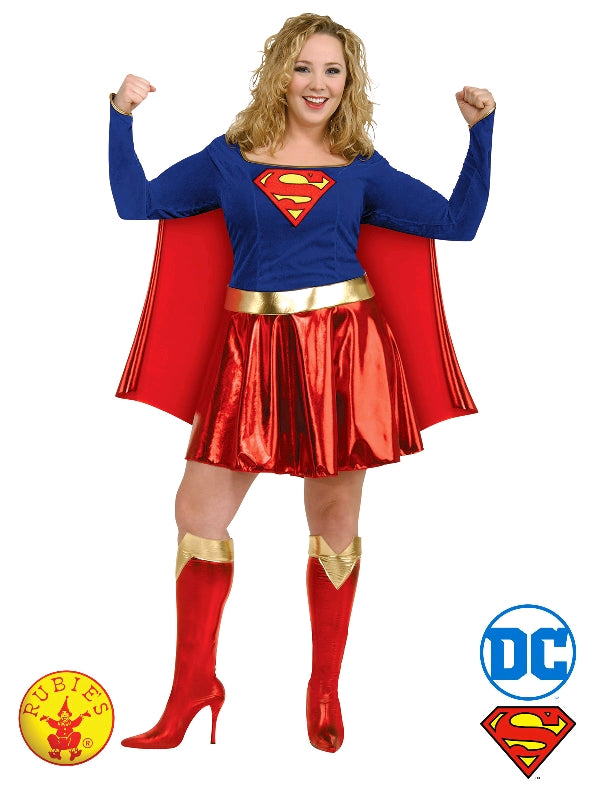 DC Superhero Supergirl Deluxe Plus Size Ladies Costume - Salsa and Gigi Australia 17479 01