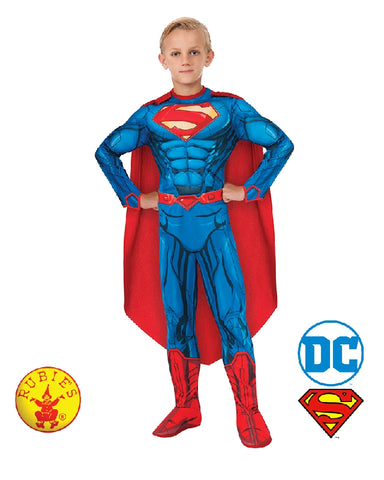 DC Superhero Superman Deluxe Digital Print Boys Costume - Size S, M, L - Salsa and Gigi