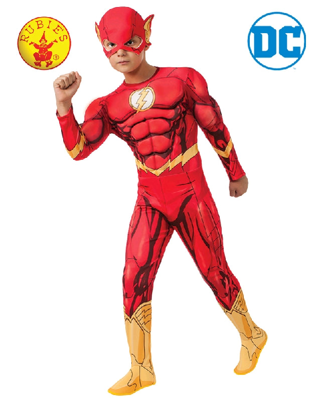 DC Superhero The Flash Deluxe Boys Costume - Sizes S, M, L - Salsa and Gigi
