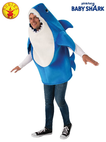Daddy Shark Blue Baby Shark Unisex Adult Costume - Salsa and Gigi Australia 701705 01