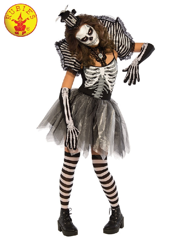 Dancing Skeleton Ladies Deluxe Costume - Adult Sizes S, M, L - Salsa and Gigi