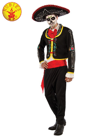 Day of the Dead Senor Adult Costume - Adult Sizes STD, PLUS - Salsa and Gigi