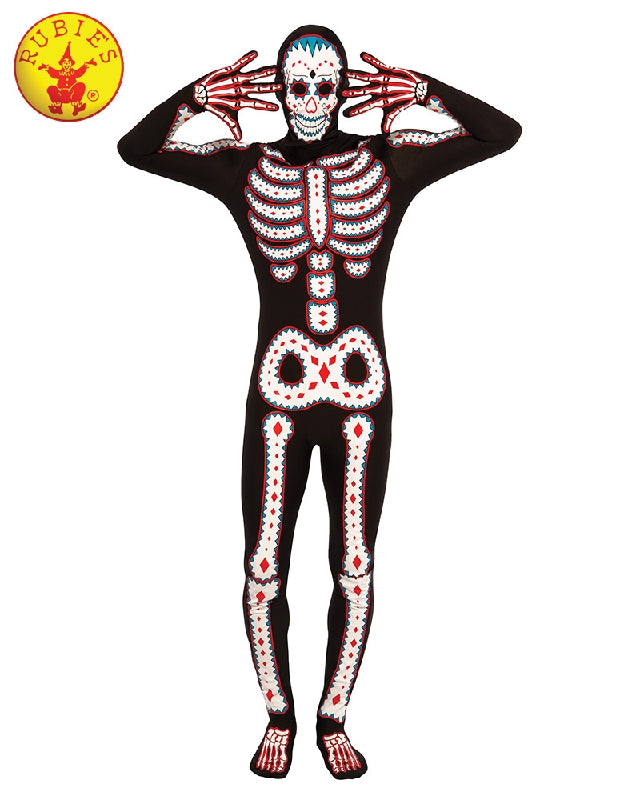 Day of the Dead Skeleton Men's Costume - Adult STD - Salsa and Gigi