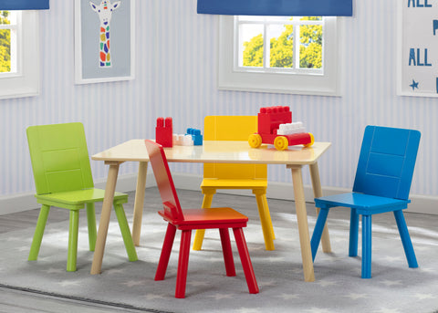 Delta Children Kids Table and 4 Chairs Set - Primary - Salsa and Gigi Australia