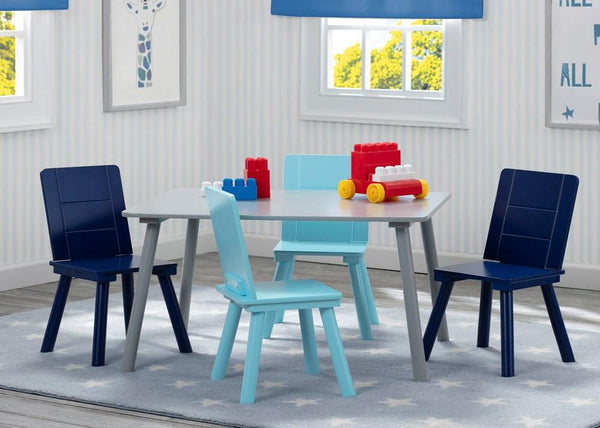 Delta Children Kids Toddler Table and 4 Chair Set - Grey & Blue - Salsa and Gigi Australia