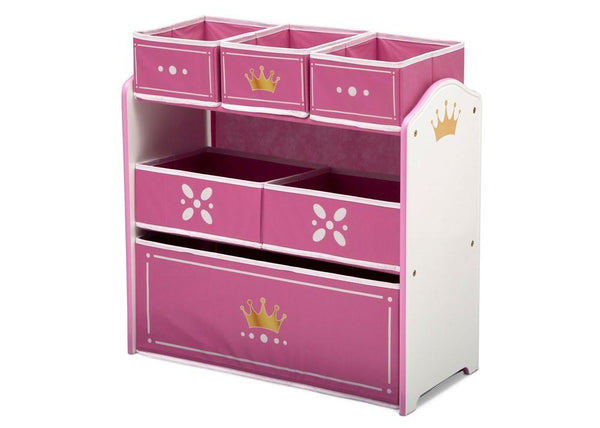 Delta Children Princess Crown Multi Bin Toy Organiser - Salsa and Gigi Australia