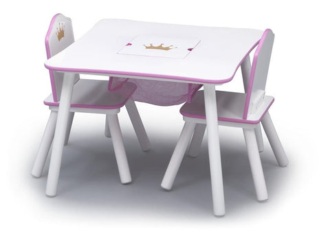 Delta Children Princess Crown Storage Table and 2 Chair Set