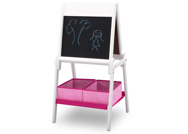 Delta Children MySize Double Sided Activity Easel White and Pink - Salsa and Gigi Australia 01