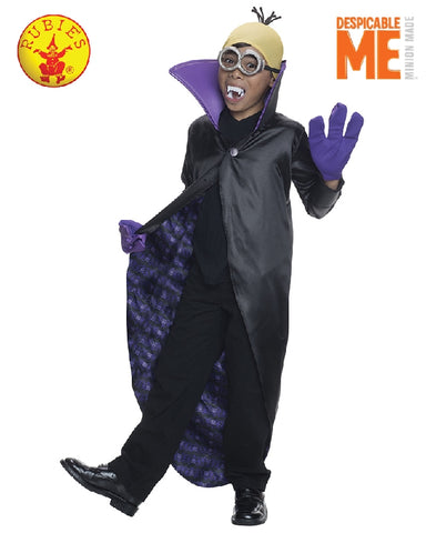 Despicable Me Minion Dracula Child Costume - Size S, M, L - Salsa and Gigi
