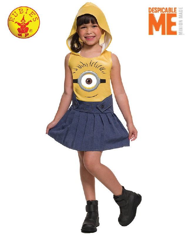 Despicable Me Minions Face Girls Dress - Size S - Salsa and Gigi