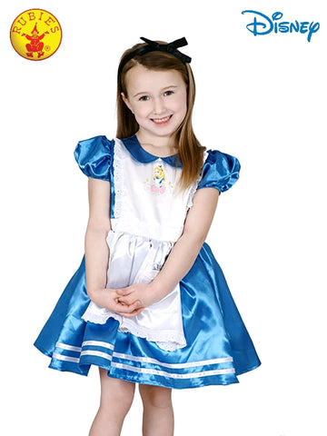 Disney Alice in Wonderland Deluxe Girls Costume Small - Salsa and Gigi Australia 7505 01